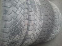 195/65R15 pacemark snow tracker, winter used tires set of 4