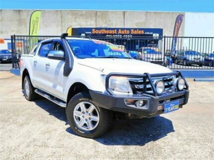 2014 Ford Ranger PX XLT Double Cab White 6 Speed Sports Automatic Utility Woodridge Logan Area Preview