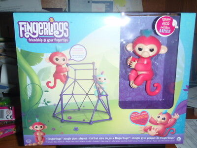 New Authentic Wowwee Genuine Fingerlings Jungle Gym Playset W  Pink Monkey Aimee