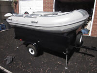 Inflatable Boat Europa and Volvo penta 15Hp outboard / Trailer VGC