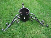 Christmas tree stand - heavy metal for large cut tree
