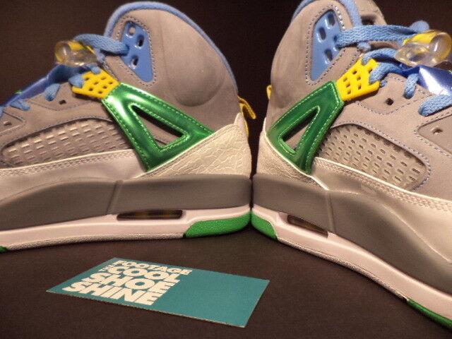 0f7ed7cf1baae8 ... Nike Air Jordan SPIZIKE EASTER STEALTH CEMENT GREY GREEN BLUE 315371-056  DS 10.5 ...