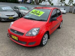 2008 Ford Fiesta WQ LX Red 4 Speed Automatic Hatchback