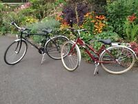 LADIES AND GENTS BIKES HARDLY USED RALEIGH AND FALCON