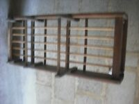OLD WOODEN DISH RACK
