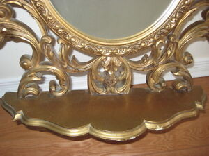 Gold Mirror with Shelf and Candle Holders West Island Greater Montréal image 3