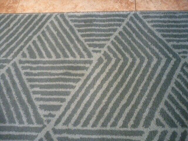 Large IKEA Stenlille Grey/Green Rug