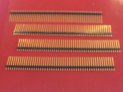 SAMTEC HEADER SINGLE ROW 1 X 50 PIN GOLD PLATED 50 PINS ( Qty 20 ) * NEW *