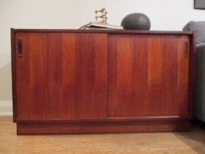 Small MCM Rose Wood Credenza Made in Denmark