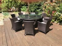 Oceans - Round Garden Table & 8 Chairs
