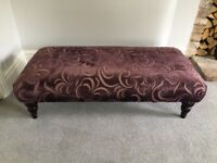 Fabric Covered Footstool