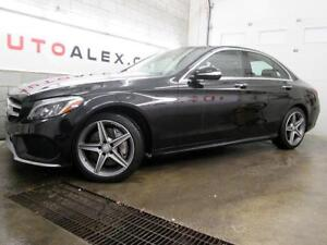 2015 Mercedes C300 AMG NAVI CUIR ROUGE TOIT PANORAMIQUE 4MATIC