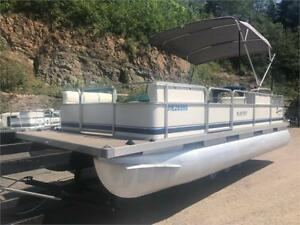 "**WOW***2004 20' SOUTHLAND PONTOON - 4 STROKE WITH 25"" PONTOONS!"
