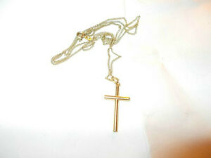 Cross solid 18K Gold  Chain solid 9kt Gold