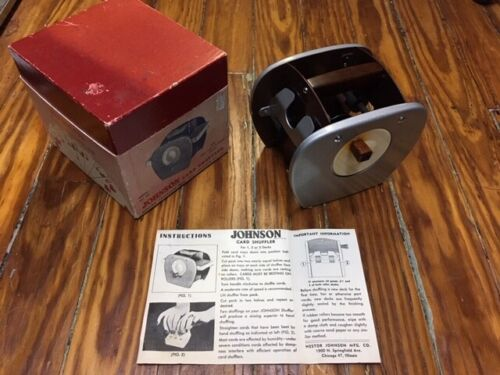 Nestor Johnson Model 50 Card Shuffler Vintage Blackjack Poker Casino