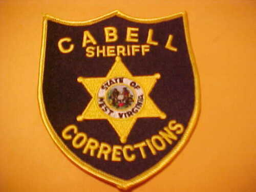 CABELL COUNTY WEST VIRGINIA CORRECTIONS POLICE PATCH SHOULDER SIZE UNUSED YELLOW