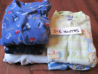 5 Warm Onesies for 3-6 month old boy, smoke & pet free