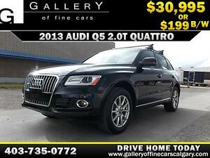 2013 Audi Q5 2.0T Premium AWD $199 bi-weekly APPLY NOW DRIVE NOW