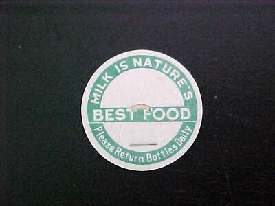 Vintage Milk Bottle Caps - Milk Is Nature's Best Food Qty of (10)