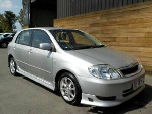 2002 Toyota Corolla ZZE122R Conquest Silver 5 Speed Manual Hatchback Labrador Gold Coast City Preview
