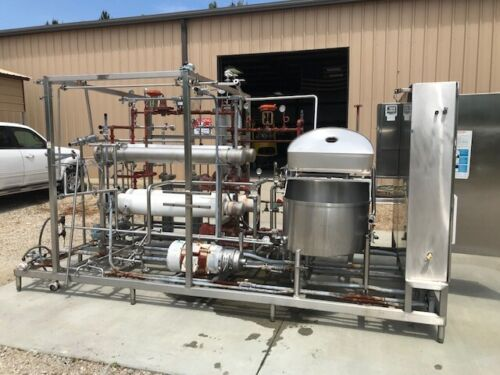 """HTST Flash Pasteurization Skid also called """" high-temperature short-time """""""