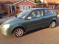 VW POLO 1.2 SE Reg serviced, 8 mths MOT, reliable, av 48mpg, new battery, some paint damage , £1350