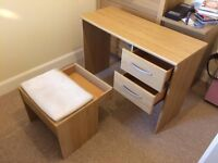 REDUCED Dressing table and stool