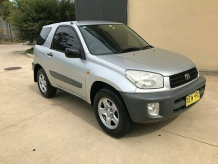 2001 Toyota RAV4 ACA20R Edge Hardtop 3dr Man 5sp, 4x4 2.0i Silver, Chrome Manual Hardtop