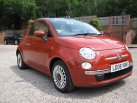 2008 08 Fiat 500 1.4 LOUNGE ORANGE METALLIC