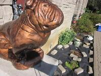 Bulldog Cement Concrete Statue