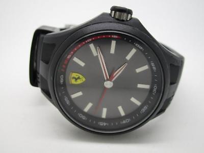 Scuderia Ferrari Pit Crew 0830218 Silicone Strap Black Dial Men's Watch (132A)