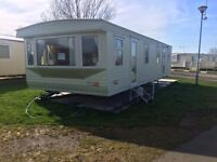 Static caravan/mobile home for self build, temporary accommodation.