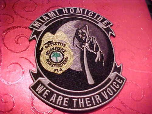 MIAMI FLORIDA HOMICIDE UNIT POLICE PATCH SHOULDER SIZE UNUSED  5 X 4