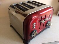 MORPHY RICHARDS ACCENTS 4 SLICE TOASTER IN RED