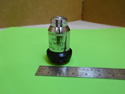 Wild Heerbrugg Swiss M20 Objective Phase 40x Microscope Part Optics As Is 88-14