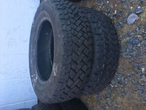 Two SnowTracker P185/65R14 Winter Tires