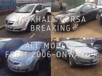 VAUXHALL CORSA, BREAKING FOR SPARES