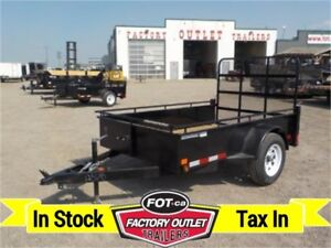 3K - 5 X 8 Single Axle Utility -*Canadian Made*- TAX IN!!