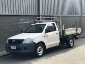 2013 Toyota Hilux TGN16R MY12 Workmate White Manual Cab Chassis Auburn Auburn Area Preview
