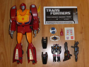TRANSFORMERS MASTERPIECE RODIMUS PRIME HOT ROD WITH TARGETMASTER