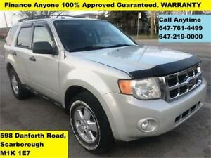 2009 Ford Escape XLT FINANCE 100% GUARANTEED (CALL 647-761-4499)