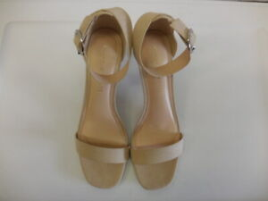 0a212e97401a Kelly and Katie Womens High Heel Sandals with Ankle Strap White 7 M