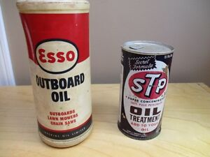 Antique ESSO and STP can