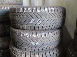 225/60 R17 FIRESTONE WINTERFORCE USED WINTER TIRES USED SNOW TIRES (SET OF 2) - APPROX. 80% TREAD