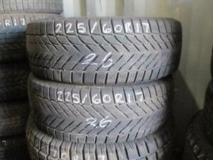 225/60 R17 JOYROAD WINTER RX808 USED WINTER TIRES USED SNOW TIRES (SET OF 2) - APPROX. 80% TREAD