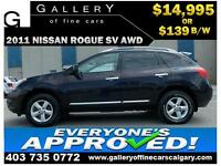 2011 Nissan Rogue SV AWD $139 bi-weekly APPLY NOW DRIVE NOW