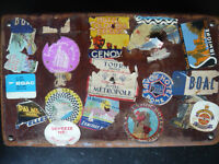 vintage suitcase original leather (1940-1950)
