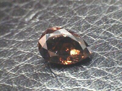0.69 CT Pear  Brown  Fancy Loose Diamond! GIA