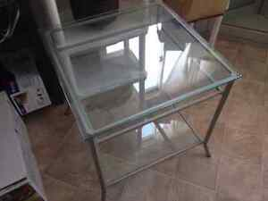 GLASS COFFEE/SIDE TABLE TWO TEIR