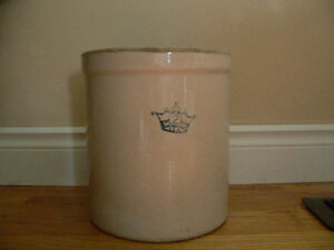 Antique Vintage 2 Gallon Ceramic Stoneware Crock Belleville Belleville Area image 1